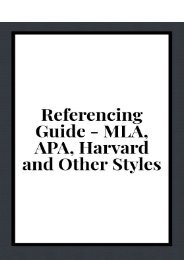 Referencing Guide - MLA, APA, Harvard and Other Styles