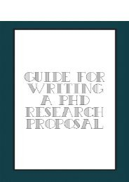 Guide For Writing a PhD Research Proposal