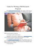 Guide For Writing a PhD Research Proposal - Page 2
