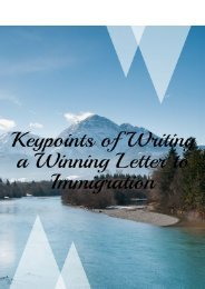 Keypoints of Writing a Winning Letter to Immigration