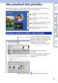 Sony DSC-TX9 - DSC-TX9 Consignes d'utilisation Slovaque - Page 2