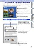 Sony DSC-TX9 - DSC-TX9 Consignes d'utilisation Finlandais - Page 2