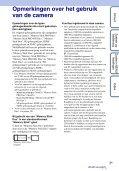 Sony DSC-TX9 - DSC-TX9 Consignes d'utilisation Néerlandais - Page 3