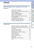 Sony DSC-TX9 - DSC-TX9 Consignes d'utilisation Néerlandais - Page 5
