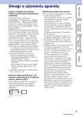 Sony DSC-TX9 - DSC-TX9 Consignes d'utilisation Polonais - Page 3