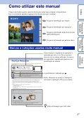 Sony DSC-TX9 - DSC-TX9 Consignes d'utilisation Portugais - Page 2