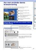Sony DSC-TX9 - DSC-TX9 Consignes d'utilisation Suédois - Page 2