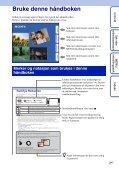 Sony DSC-TX9 - DSC-TX9 Consignes d'utilisation Norvégien - Page 2