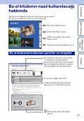 Sony DSC-TX9 - DSC-TX9 Consignes d'utilisation Turc - Page 2