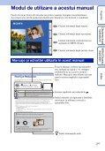 Sony DSC-TX9 - DSC-TX9 Mode d'emploi Roumain - Page 2