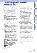 Sony DSC-TX9 - DSC-TX9 Mode d'emploi Roumain - Page 3