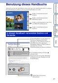 Sony DSC-TX9 - DSC-TX9 Consignes d'utilisation Allemand - Page 2