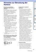 Sony DSC-TX9 - DSC-TX9 Consignes d'utilisation Allemand - Page 3