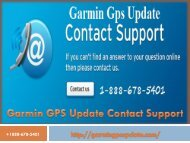 Garmin GPS Update Contact Support number