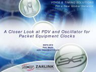 A Closer Look at PDV and Oscillator for Packet Equipment Clocks
