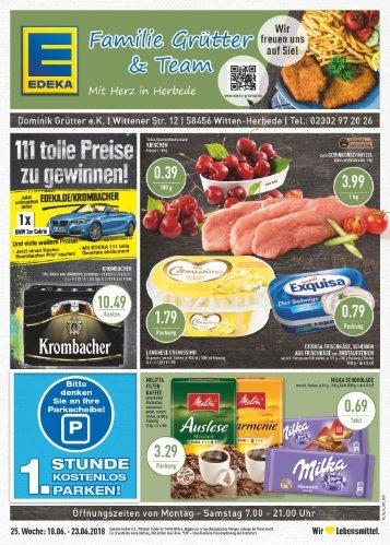 EDEKA Grütter_Angebote vom 18.06 bis zum 23.06.2018