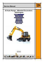 JCB JS145W, JS165W Wheeled Excavator Service Repair Workshop Manual