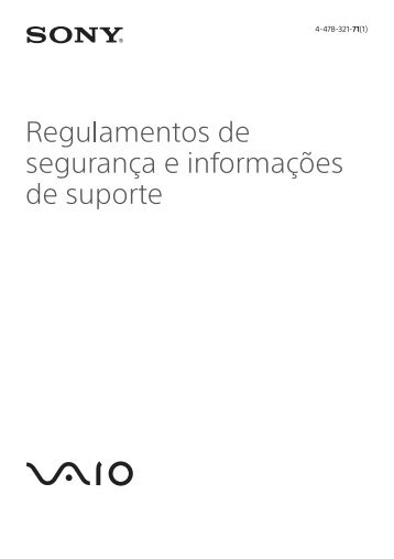 Sony SVF13N1E4E - SVF13N1E4E Documenti garanzia Portoghese