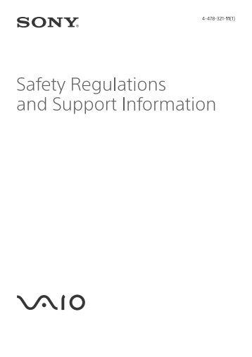 Sony SVF13N1E4E - SVF13N1E4E Documenti garanzia Inglese