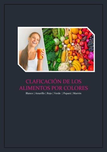 Clasificación de los alimentos por colores