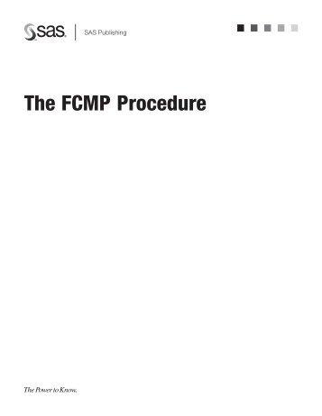 Using the FCMP Procedure - SAS