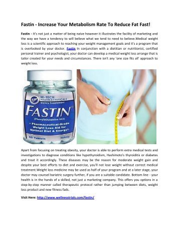 Fastin - Suppresses Your Appetite & Maintain curve Body!