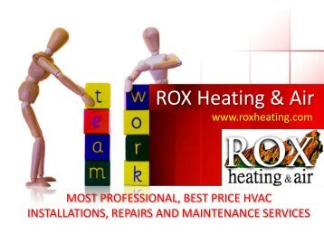 Most Professional, Best Price HVAC Installations, Repairs And Maintenance Services