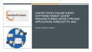 United States Online Survey Software Market 2018