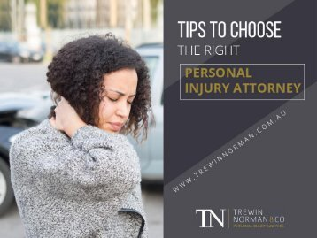 Tips to Choose the Right Personal Injury Lawyer in Perth