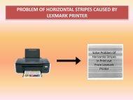 Problem Of Horizontal Stripes Caused By Lexmark Printer