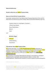 Datenschutzverordnung FB-Seite