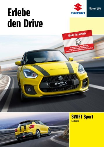SWIFT Sport Modellprospekt