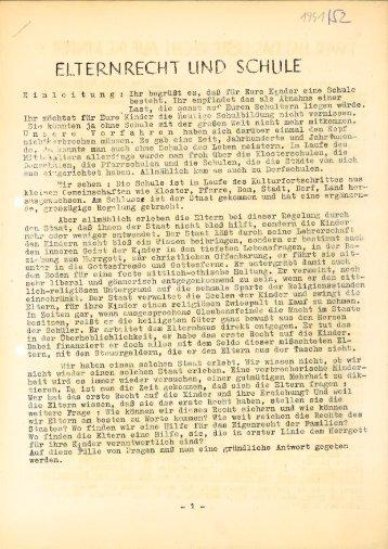 KMB Männertag: 1951_1952 Elternrecht und Schule