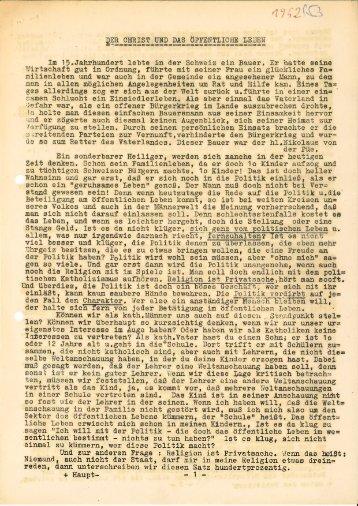 MTR 1952_1953 Der Christ und das öffentliche Leben