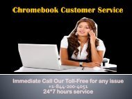 Chromebook Customer Service +1-844-200-4051