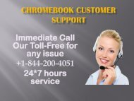 chromebook Customer Support Number +1-844-200-4051