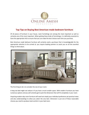 Top Tips on Buying Best American made bedroom furniture