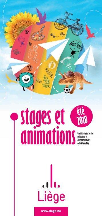 Stage et animations été 2018