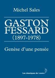 Gaston Fessard (1897-1978). Genèse d'une pensée
