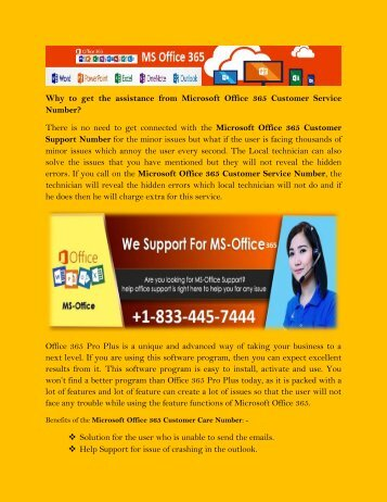 Microsoft office 365 Tech Support Phone Number +1-833-445-7444