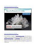 Quartz Powder Manufacturer in India EMC - Page 2