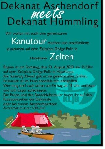 Kanutour KLJB Dekanat Aschendorf und KLJB Dekanat Hümmling