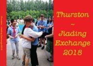 Thurston ~ Jiading Exchange 2018
