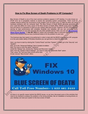 How to Fix Blue Screen of Death Problems in HP Computer