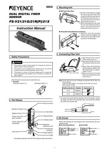 Keyence Fs N Series Instruction Manual