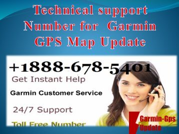 Technical support Number for Garmin GPS Map Update