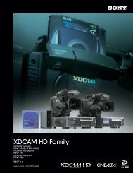 XDCAM HD Family - Full Compass