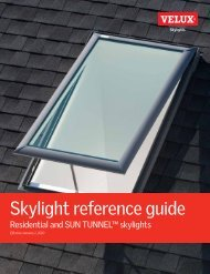 Skylight reference guide - Velux