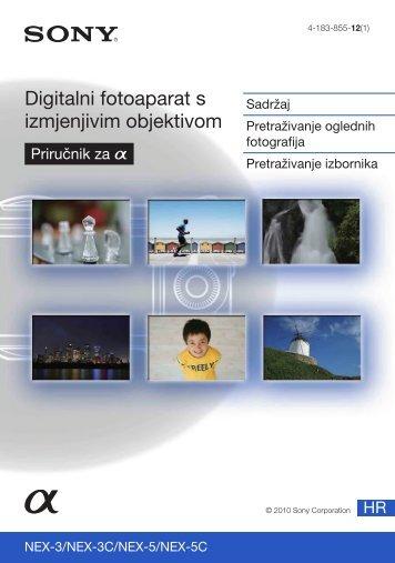 Sony NEX-3D - NEX-3D Istruzioni per l'uso Croato