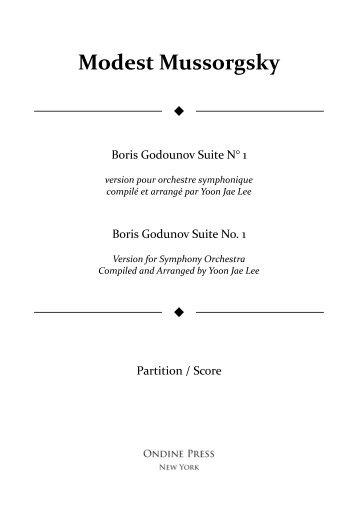 Mussorgsky (arr. Lee): Boris Godunov Suite No. 1 for Symphony Orchestra